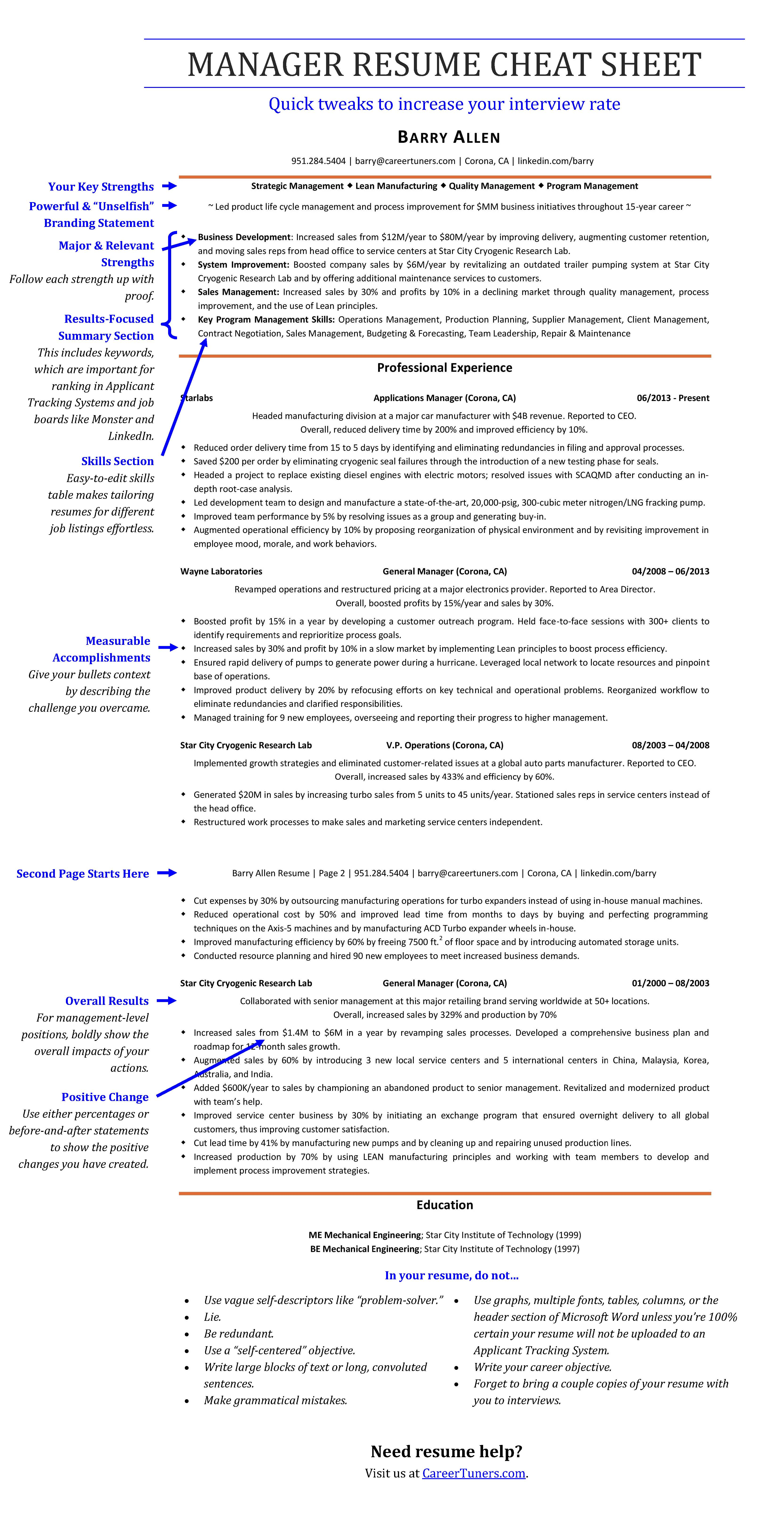 Attractive Resume Cheat Sheet Mold - Documentation Template Example ...